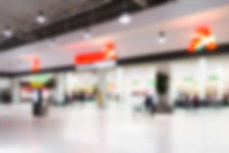 Blurred abstract background can be an illustration to the article about shopping malls, supermarkets and hypermarkets