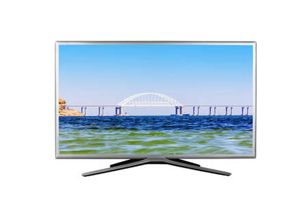 4K monitor or TV isolated on white background