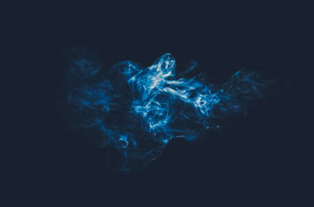 abstract blue smoke cloud on dark background