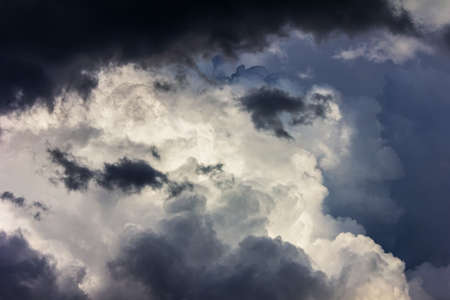 dramatic pre-storm cloudy sky on a summer or spring day