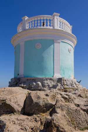 Kerch, Russia - 13 August 2019: eternal flame lighthouse on mount Mithridates Editorial