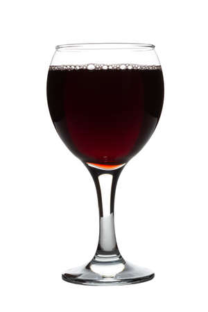 red wine glass isolated on white background 写真素材