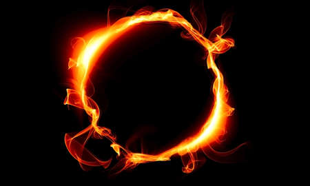 wheel spin: Ring consisting of a fire. The magical thing. Fantasy