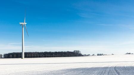 wind farm: Parque e�lico en una fr�a ma�ana de invierno