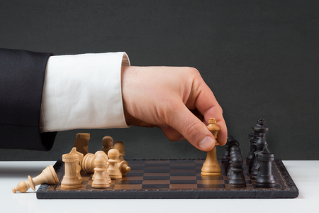 Businessman is playing against the rules