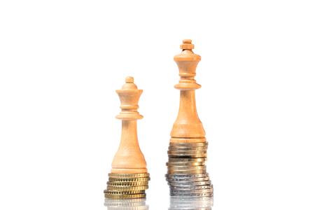Einkommensunterschiede zwischen Männern und Frauen Lizenzfreie Bilder