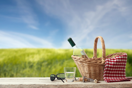 Picnic for a single Person in a countryside Landscape photo
