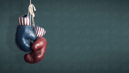 politics: Election Day 2014 - Democrats and Republicans in the campaign Stock Photo