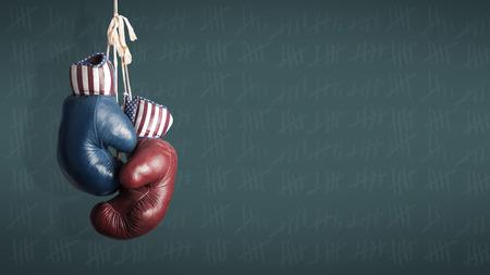 Election Day 2014 - Demokraten und Republikaner im Wahlkampf Lizenzfreie Bilder