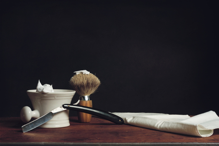 barber shave: Shaving Tools Stock Photo