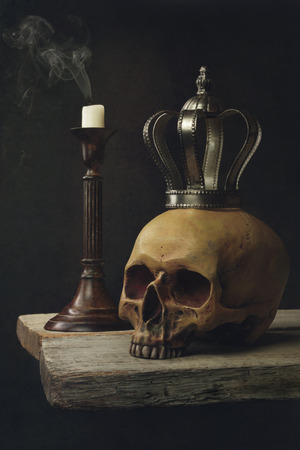 life and death: Vanitas Life, death & resurrection Stock Photo