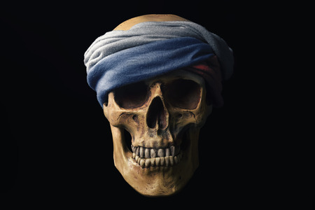 the federation: Skull with Flag of the Russian Federation