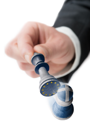 taxpayers: Greece leaves the European Union Stock Photo