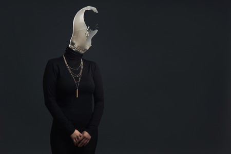 Headless adult woman as Symbol for Burn Out Syndrome