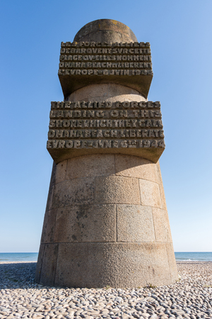 normandy: The Omaha Beach Monument, Normandy, France Stock Photo