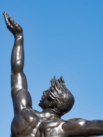 omaha: The Omaha Beach Monument in France, Normandy
