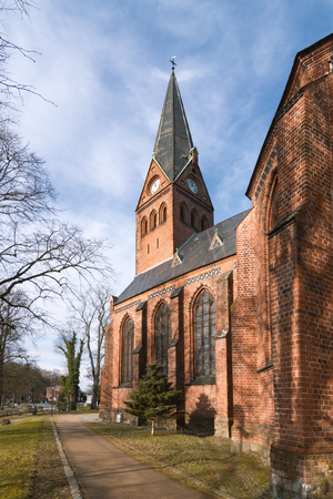 mecklenburg: The old City Church of Malchow, Mecklenburg, Germany