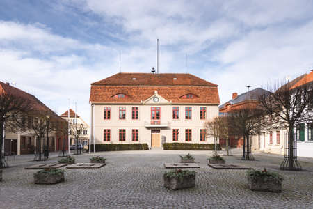 mecklenburg: The Town Hall of Malchow, Mecklenburg, Germany Stock Photo