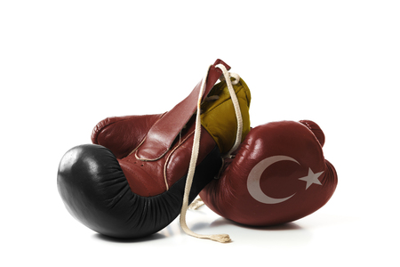 ceasefire: symbolic representation of the differences between Turkey and Germany