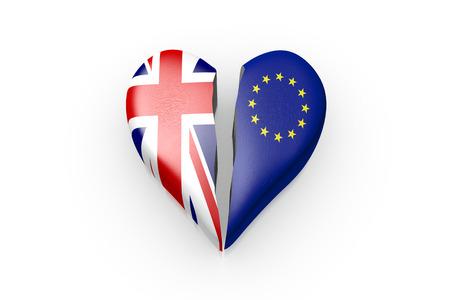 3D Illustration Brexit, Symbol of the Referendum EU vs UK