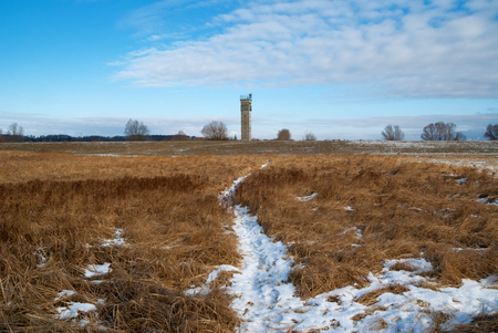 Watchtower at the former inner Border in Germany
