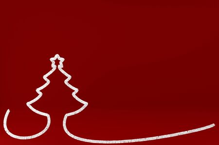 3d illustration Stylized Christmas tree on colored background