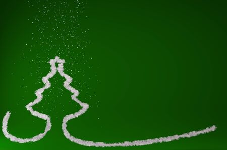 merry chrismas: 3d illustration Stylized Christmas tree on colored background