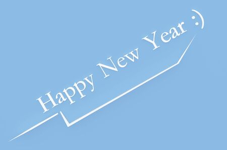 3d illustration; Shape of a  New Years Eve with Text