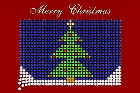 3d illustration Weihnachtsbaum aus Weihnachtskugeln geformt Standard-Bild - 80822091