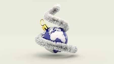 3d illustration Merry Christmas all over the World Lizenzfreie Bilder
