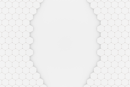 3d illustration of a Honeycomb structure with a Hole Standard-Bild