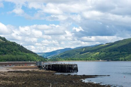 Loch Fyne with Pier and Highlands at Inveraray, Scotland