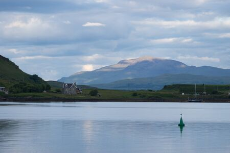 View to the Isle of Mull from Oban, Scotland Standard-Bild - 129066438