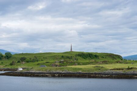 The Hutchesons Monument in the near of Oban, Scotland Standard-Bild - 129066451