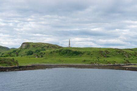The Hutchesons Monument in the near of Oban, Scotland Standard-Bild - 129066459