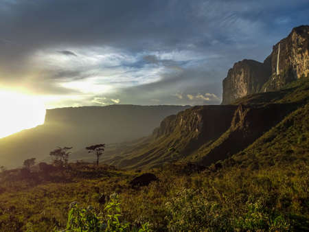Sunset after the rain the foot of Mount Roraima