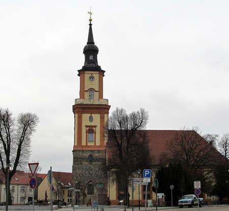 Maria Magdalena Kerk in Templin - historisch Stockfoto