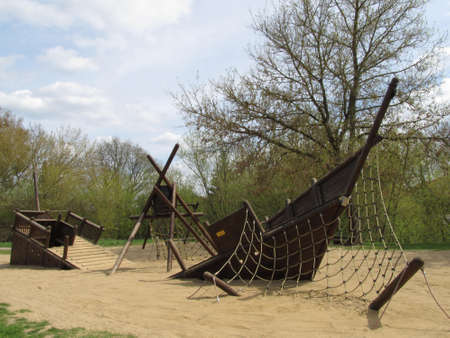 Playground - Pirate Ship Stock Photo - 19370196