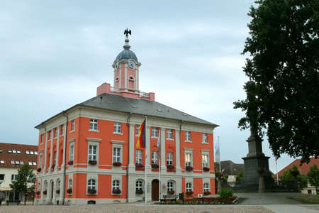 old town townhall: City Hall in Templin