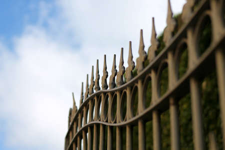 Tines fence - gate Stock Photo - 22505970