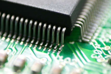 chipset:  Chipset - Close Stock Photo