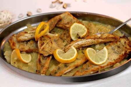 zander: Zander fillet with fennel Stock Photo
