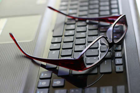 distressing: Computer work and glasses
