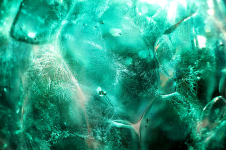 inclusions: glass structure Stock Photo
