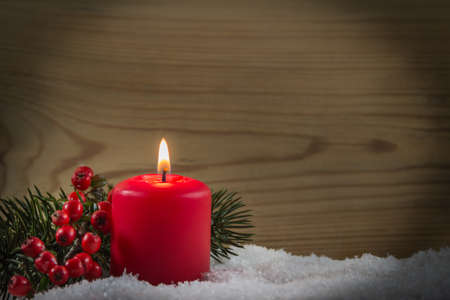 tensed: Red candle Stock Photo