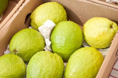 superfruit: close of box of guavas