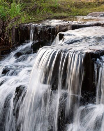 close of waterfall