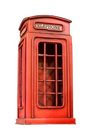 old phone booth miniature Stock Photo - 15406850