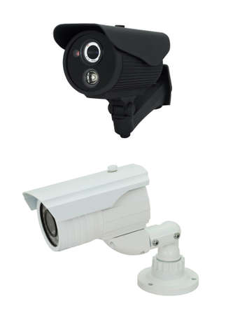 Pretty Security camera collection isolated on white background Stock Photo - 15890461