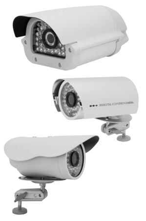 Pretty Security Camera Collection on white background Stock Photo - 15890586